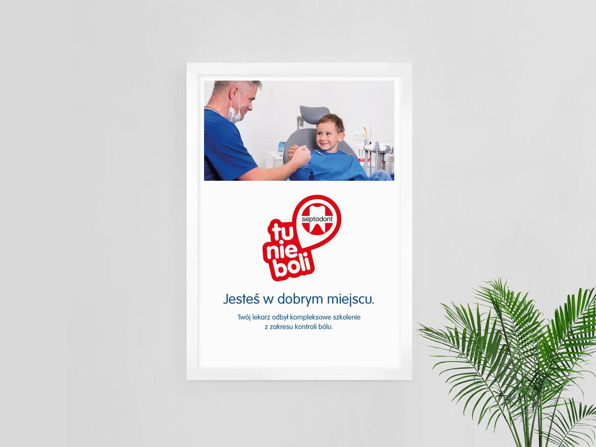Plakat – Tu nie boli Septodont