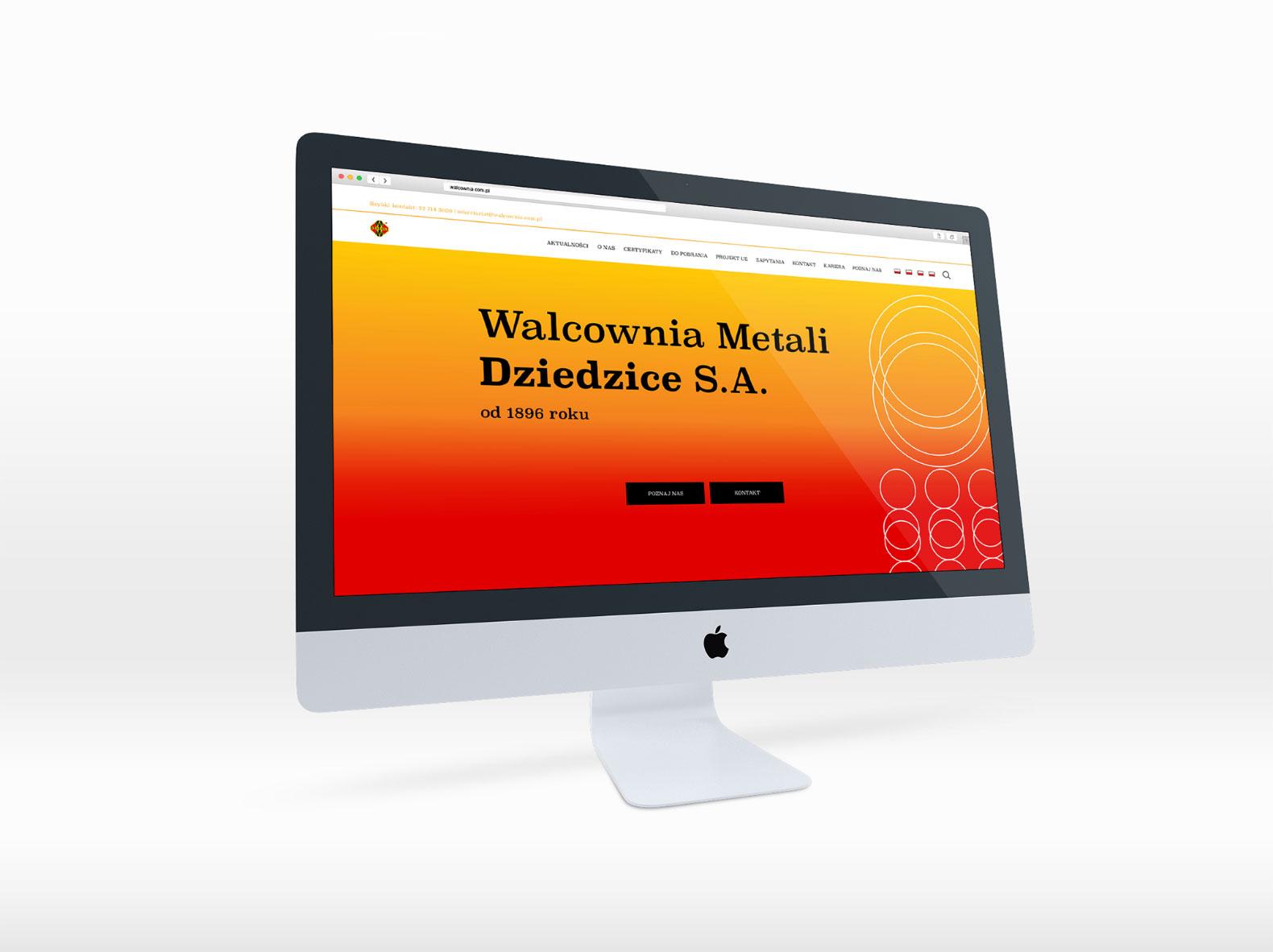 Tablica stylu wizerunku kluczem wizualnym projektu strony internetowej
