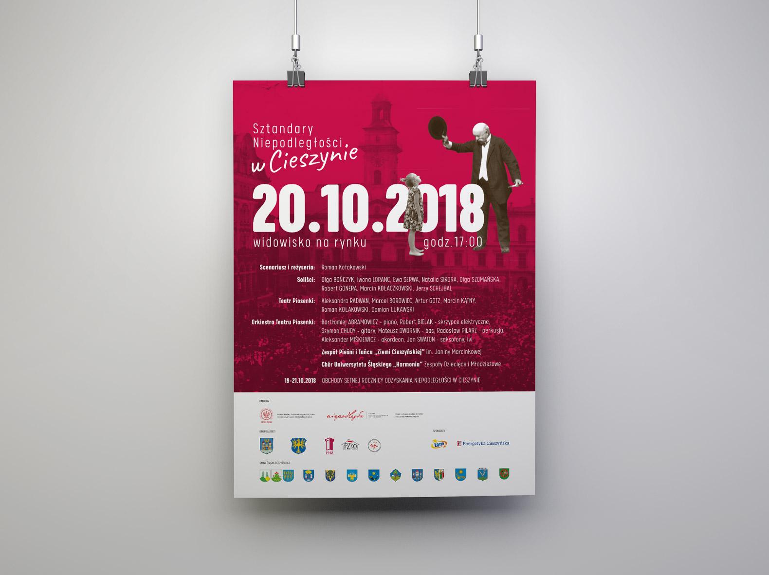 Sztandary Niepodległości w Cieszynie – plakat