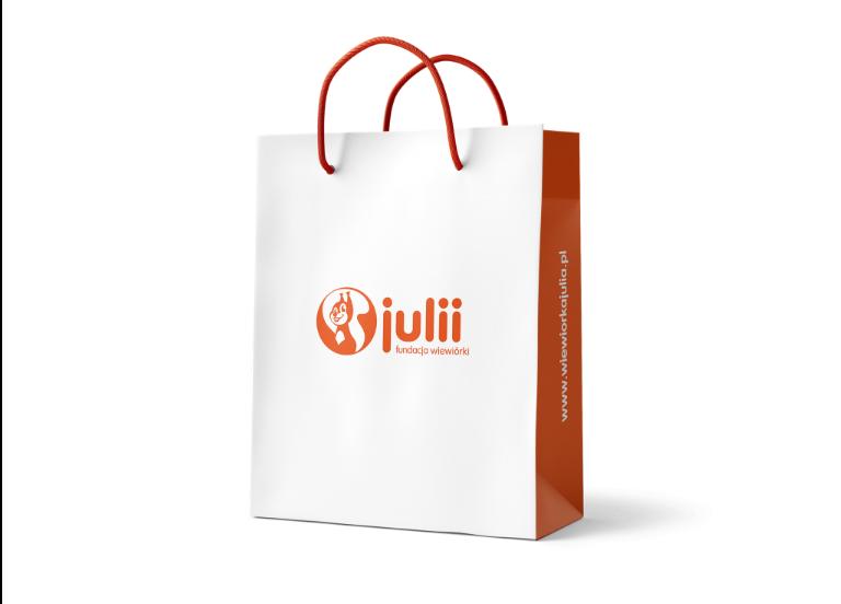 Charakter logo – torba papierowa