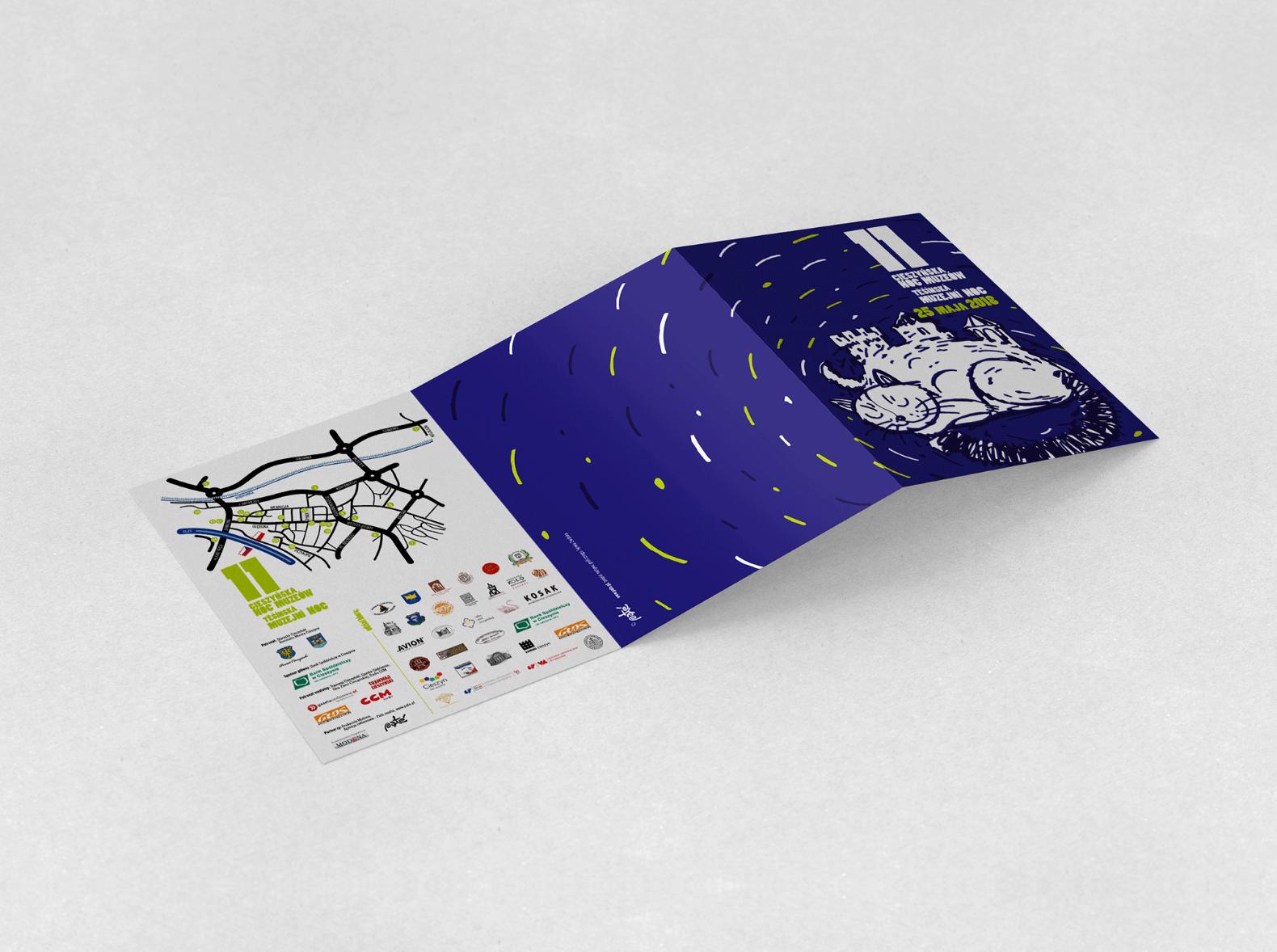 Ilustracja motywem kampanii 11 Nocy Muzeów – ulotka