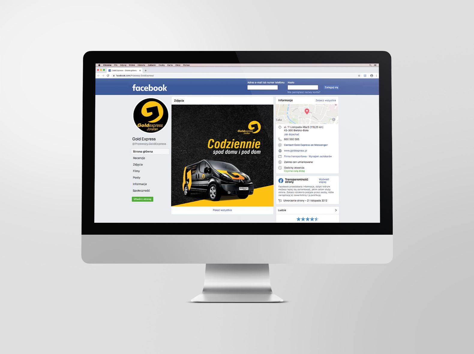 Grafika firmowy fanpage Goldexpress
