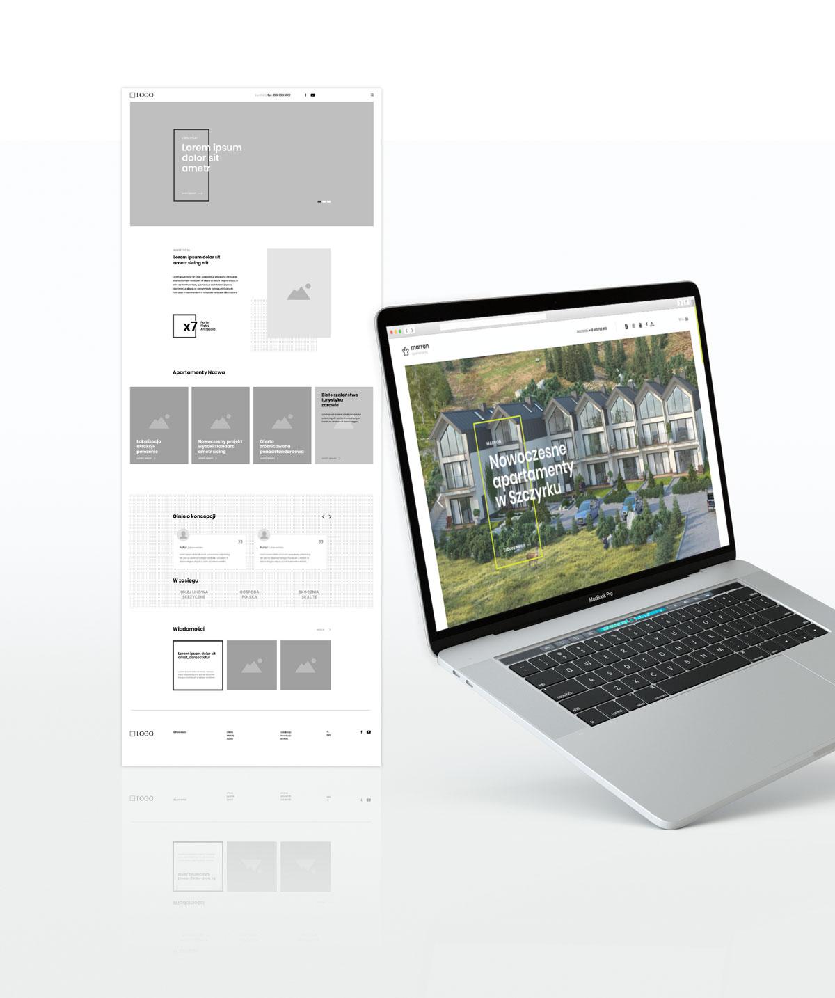Prototyp strony internetowej