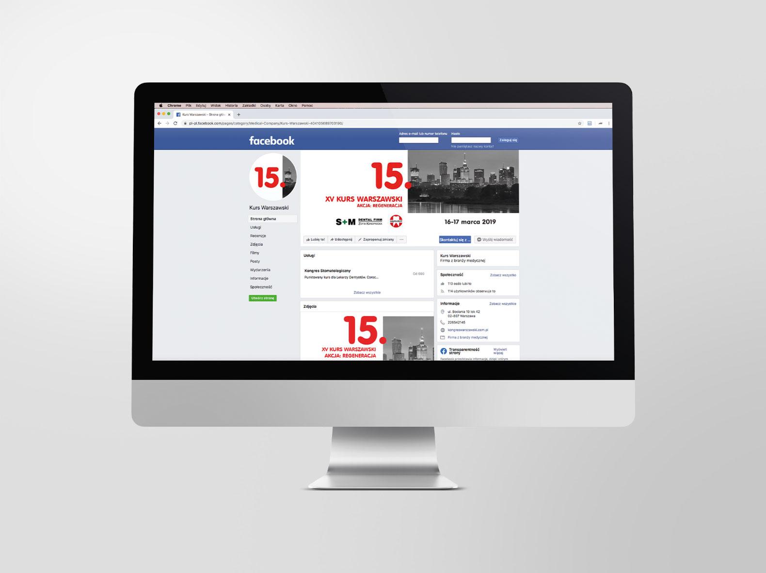 Reklama facebook 15 Kurs Warszawski