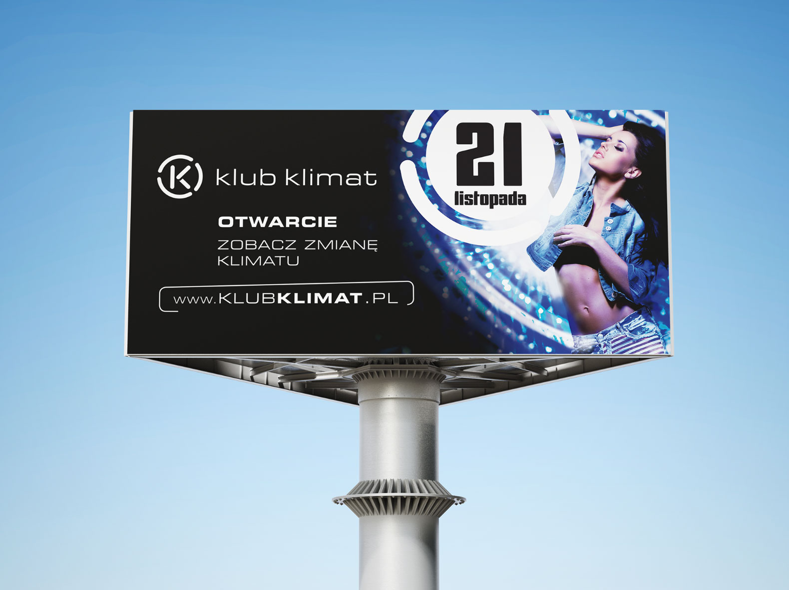 billboard – logo monogram Klub Klimat