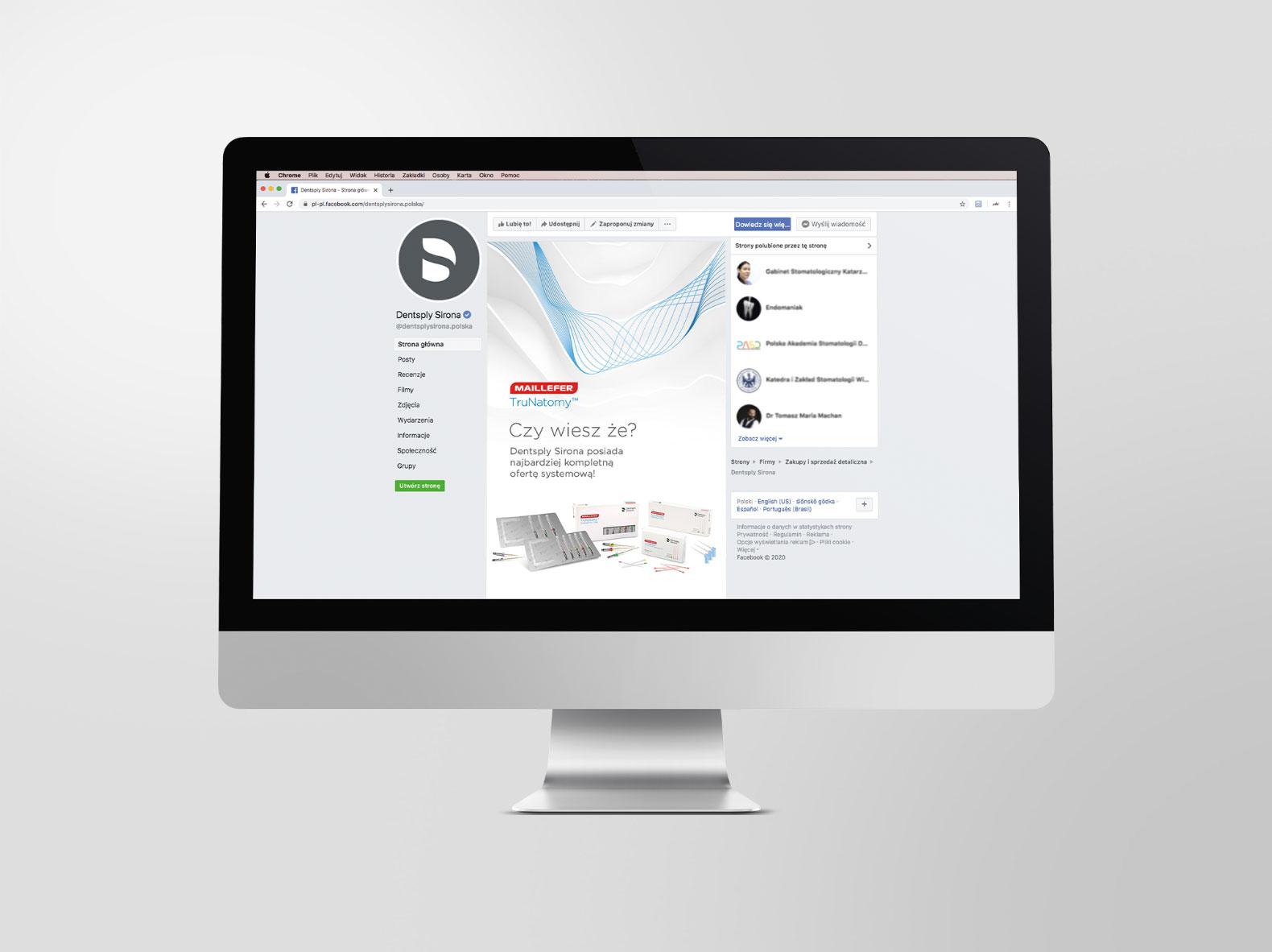 Reklama facebook Dentsply Sirona