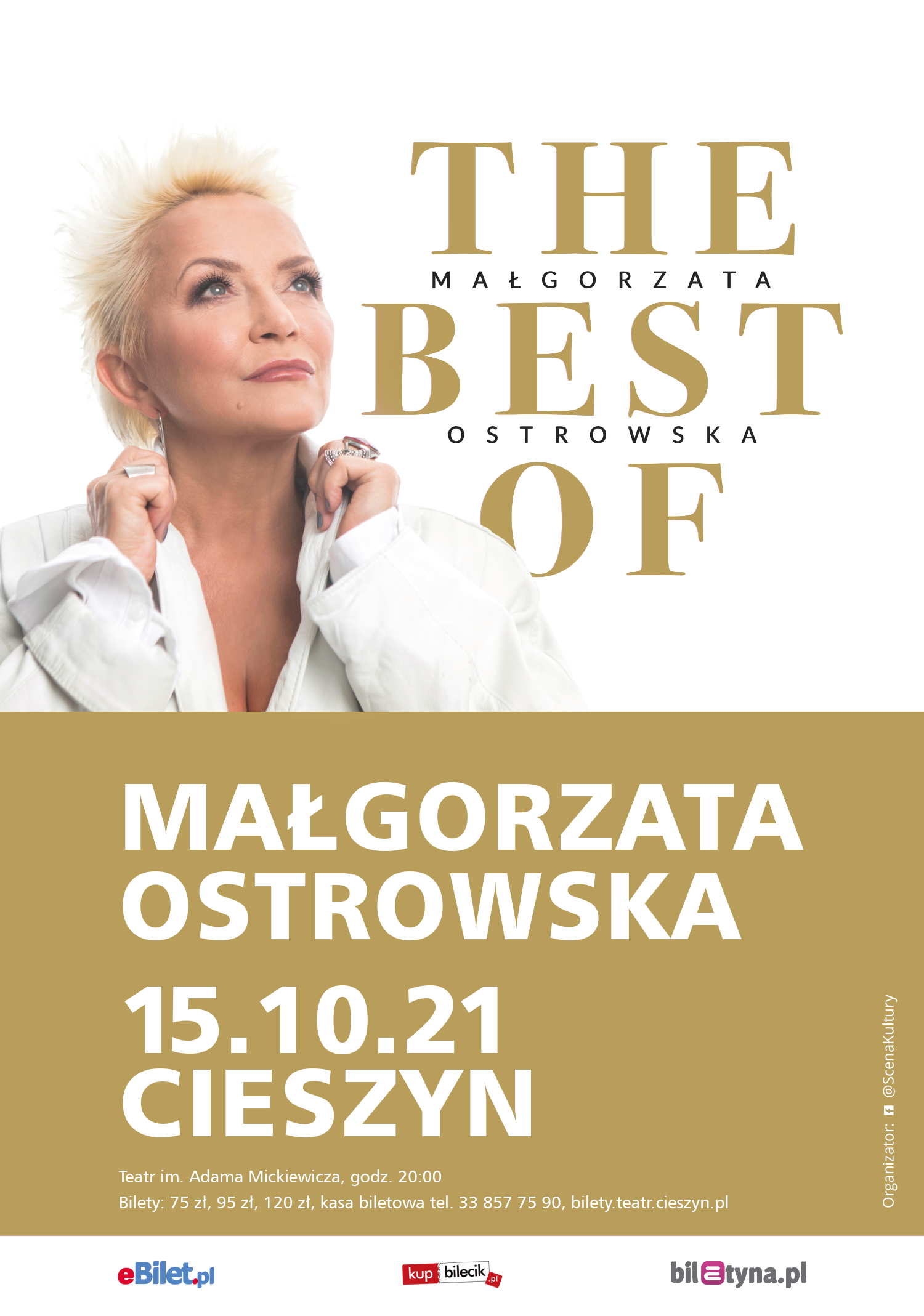 @ScenaKultury Małgorzata Ostrowska THE BEST OF Cieszyn – plakat
